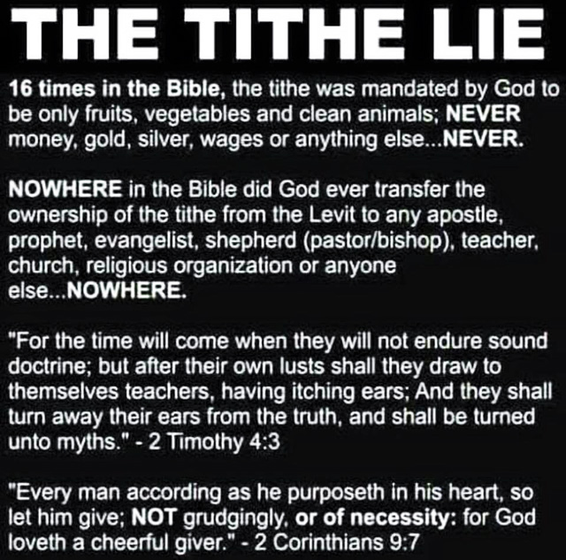 The Tithe Lie